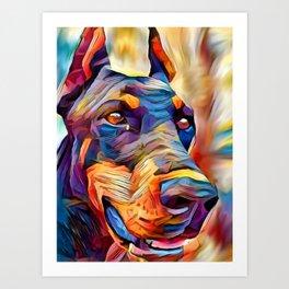 Doberman 2 Art Print