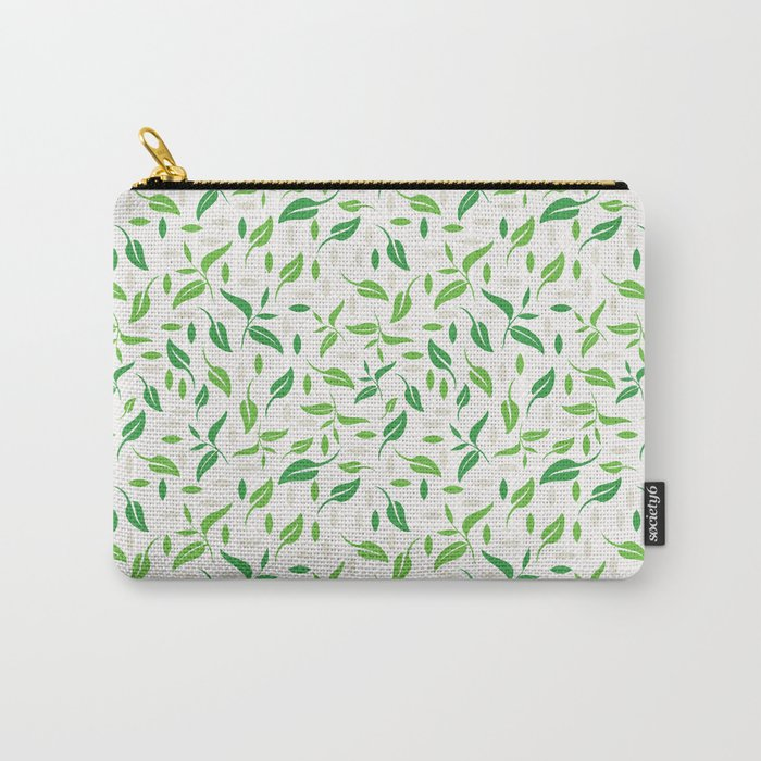 Tea Leaves Pattern Carry-All Pouch