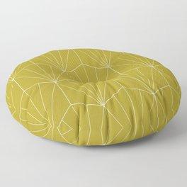 Gisela Geometric Line Pattern - Green Apple Floor Pillow