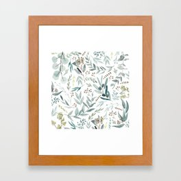 Eucalyptus pattern Framed Art Print