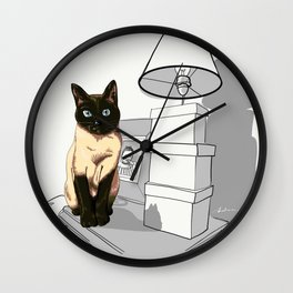 I am siamese if you please Wall Clock