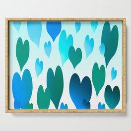 Hearts get Lighter (blue) Serving Tray