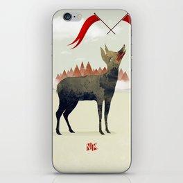Wood Hyena iPhone Skin