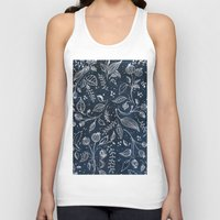 metallic Tank Tops featuring Metallic Floral by Yaz Raja Designs