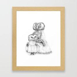 Madame Hibou et Louise Hibou Framed Art Print