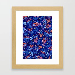 Multicolored Watercolor Paisley Florals Framed Art Print
