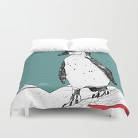 penguin Duvet Covers featuring Penguin by Diana Hope