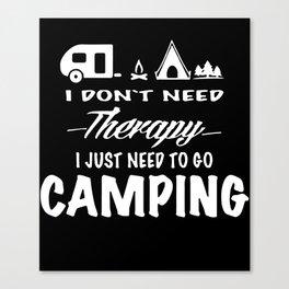 Camping Gear Camping Shirt Happy Camper Happy Camper Summer Camp T-Shirts Canvas Print