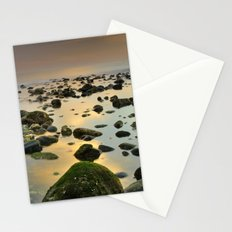 Green stones. Sea sunset Stationery Cards