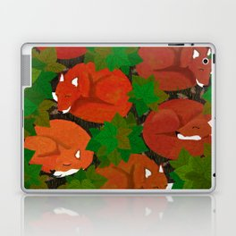 Sleepy foxes and Grapevine leaves Laptop & iPad Skin