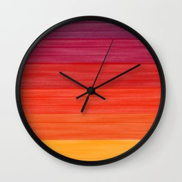Acrylic Autumn Color Scheme Wall Clock