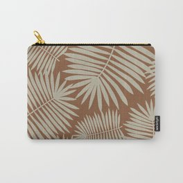 Palm Leaves Delight   brown & light brown   Carry-All Pouch