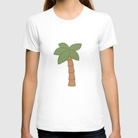 palm tree T-shirts featuring Palm Tree by George Hatzis