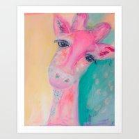 la girafe Art Print
