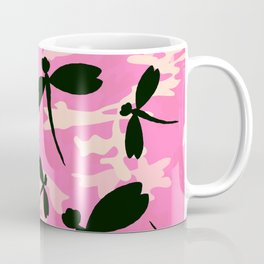 Pink Camouflage Dragonflies Coffee Mug