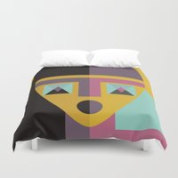 model Duvet Covers featuring Geometric model by FLATOWL