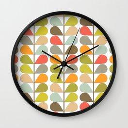 Retro Mid Century Modern Pattern Wall Clock