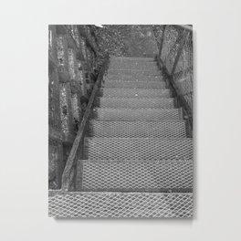 Metal Steps Down Metal Print