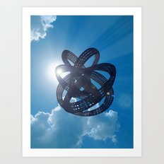 Knot in the sky Art Print
