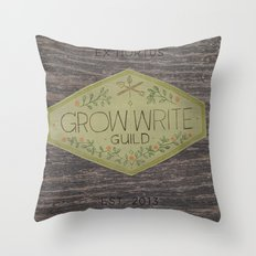 Grow Write Guild Seal Throw Pillow
