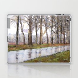 "Landscape Of A Road Fine Art Watercolor Painting  ""The Road Not Traveled"" Laptop & iPad Skin"