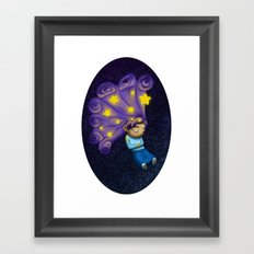 Dreaming Girl Framed Art Print