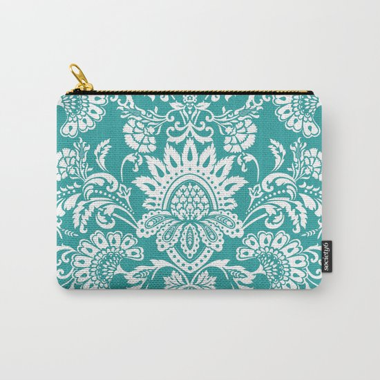 Damask in emerald Carry-All Pouch