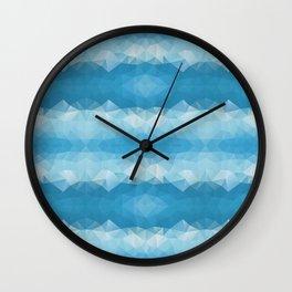 Blue mozaic design Wall Clock