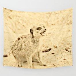 Vintage Animals - Meerkat Wall Tapestry