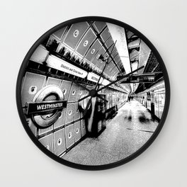 Going Underground Art Wall Clock