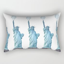 Statue of Liberty with Tennis Racquet Rectangular Pillow