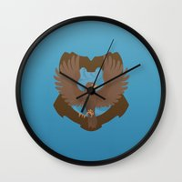 ravenclaw Wall Clocks featuring Ravenclaw by Tom Oxnam