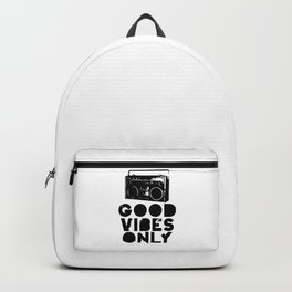 Good Vibes Only Boombox Backpack