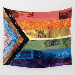 Progress Pride Flag Collage Wall Tapestry