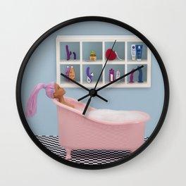 Fun at bath time Wall Clock