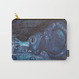 The Frog King - blue Carry-All Pouch