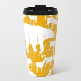 Polar gathering (orange juice) Travel Mug