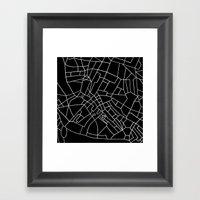 London Road Blocks Black Framed Art Print