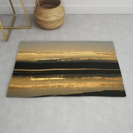 Sunsetting on a golden Pond Rug