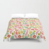 jungle Duvet Covers featuring Jungle by Kristin Nohe Juchs