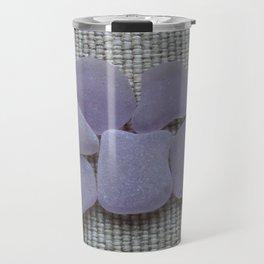 Dark Purple Sea Glass Travel Mug