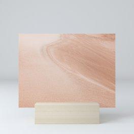 Sandy - Abstract Sand Dune Photography Mini Art Print