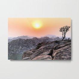 "Sunset near the ""Hanuman temple"". Hampi. India. Metal Print"