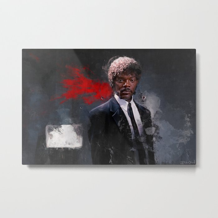 Jules Winnfield Witnesses A Miracle - Pulp Fiction Metal Print