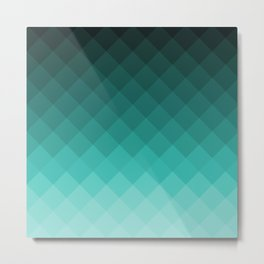 Ombre squares Metal Print