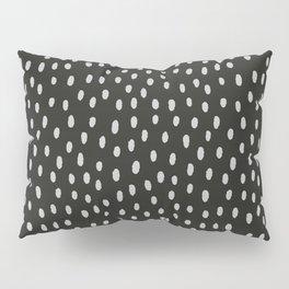 Hand painted black gray watercolor brushstrokes pattern Pillow Sham
