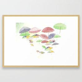 rainbow walk Framed Art Print