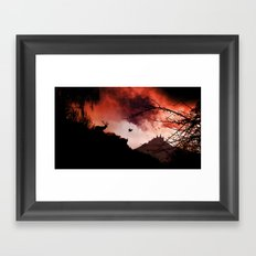 Dramatic cloudy scenery Framed Art Print