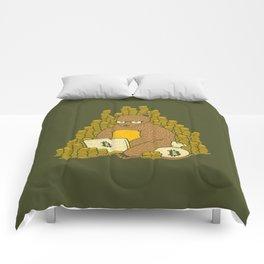 Bitcoin Miner T-shirt Bear Comforters