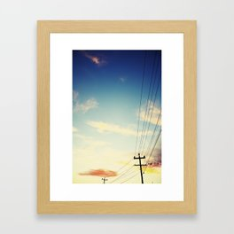 Powerlines Framed Art Print
